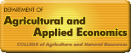Department of Agricultural & Applied Economics, College of Agriculture and Natural Resources