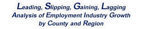 Wyoming - LSGL Analysis of Employment Industry Growth by Selected Region, 1969-2015